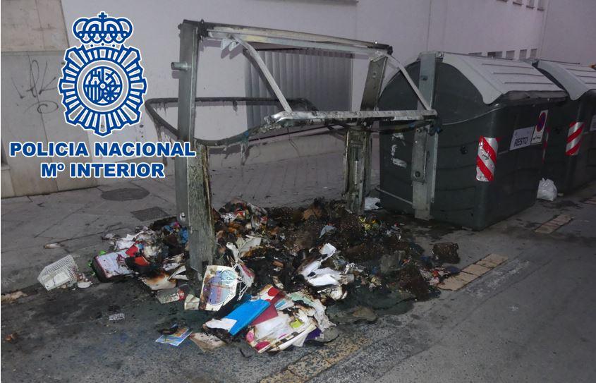 Incendio-contenedor-Granada