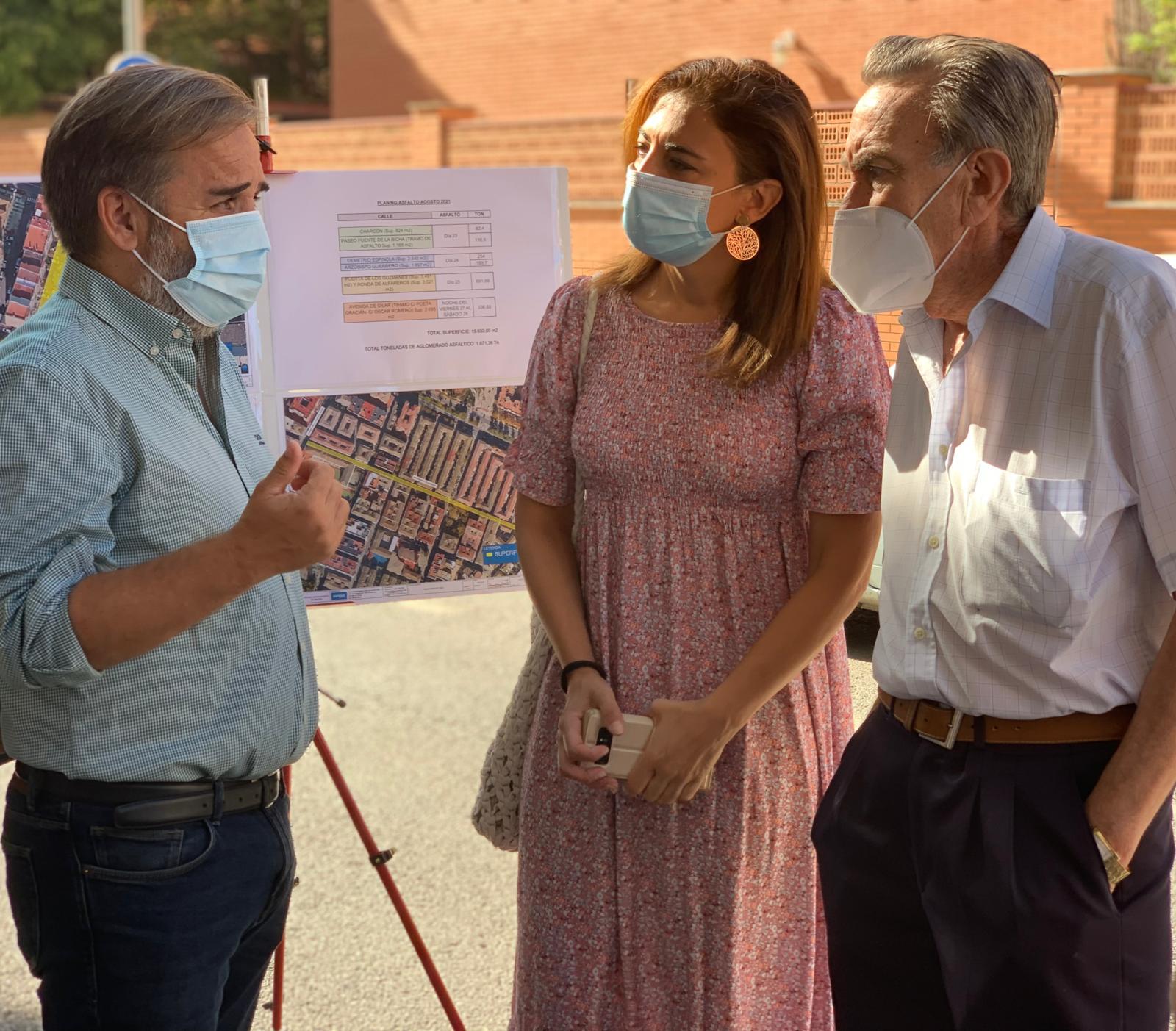 Plan asfaltico visita La Rosaleda